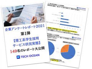 【企業アンケートレポート2021第1弾】理工系学生採用サービス状況実態      <149名のレポート大公開>
